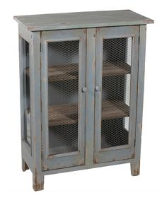 Look at this Distressed Green Cabinet on #zulily today!