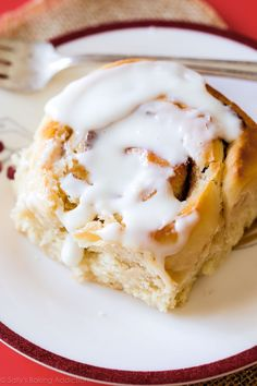 Soft, fluffy, buttery cinnamon rolls you can begin ahead of time. Save time in the morning and have everyone wake up to warm, fresh, cinnamon goodness! Recipe on sallysbakingaddiction.com