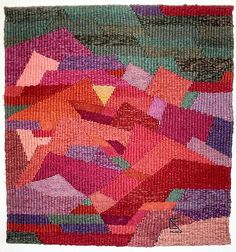 Stolzl:  Wall hanging Diagonal/Rot-Grün 1971, 80 x 80 cm    Private Collection TexKY 39