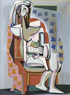 Emil Filla - Woman in a Chair with a Book, 1930, oil on canvas