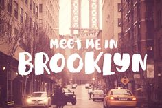 Check out Meet Me In Brooklyn by StreetType on Creative Market