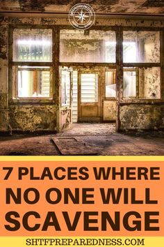 Urban Survival: 7 Places Where No One Will Scavenge Survival Mode, Urban Survival, Survival Prepping, Survival Skills, Primitive Survival, 7 Places, Emergency Preparation, Emergency Supplies, Urban Setting