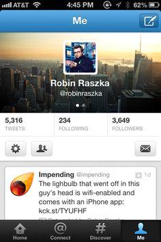 Twitter Profile Layout