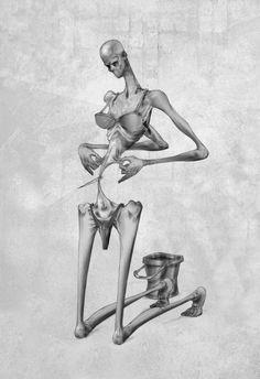 L'illustrateur Al Margen imagine des scènes surréalistes et très critiques de notre société… qui auront du mal à vous laisser indifférent(e)s ! L'argent-roi, la manipulation des médias, l'anorexie, … évidemment on ne vit pas dans une société parfaite. Et comme toujours, certains vont regarder le verre à moitié plein et d'autres le verre à moitié vide comme …