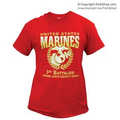 1st Battalion Ready to Wear Recruit Graduation Shirt. United States Marines with the Eagle, Globe, and Anchor...ONLY at EGAshop.com