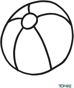 Raamtekening strandbal / Rúttekening strânbal