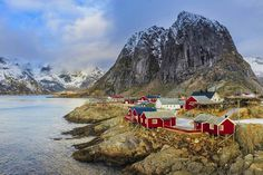 Traditional red houses in Hamnoy village, Lofoten Islands, Norway. Image by Dave Moorhouse / Moment / Getty Norway Fjords, Red Houses, Scandinavian Countries, Norway Travel, Lofoten, Cool Countries, Future Travel, Ultimate Travel, Lonely Planet