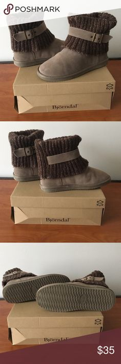 Size 9 Taupe Bjorndal Booties Excellent condition! Practically new, hardly ever worn. Extremely comfortable and warm. Original. Original and packaging! Björndal Shoes Winter & Rain Boots