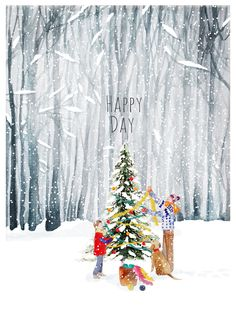 Delphine Balme on Strikingly Christmas Is Coming, Christmas Love, Christmas Design, Christmas Pictures, All Things Christmas, Illustration Noel, Christmas Illustration, Winter Drawings, Merry Christmas Quotes
