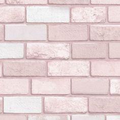 Vinyl Wallpaper, Brick Wallpaper Pink, Holz Wallpaper, Glitter Wallpaper, Textured Wallpaper, Wallpaper Roll, Wallpaper Backgrounds, Iphone Wallpaper, Blush Pink Wallpaper