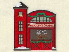 Christmas Village Rudolph's Stable - 5x7 | What's New | Machine Embroidery Designs | SWAKembroidery.com Starbird Stock Designs
