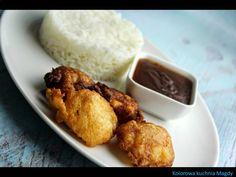 Kolorowa Kuchnia Magdy: Kurczak w cieście kokosowym z sosem słodko-kwaśnym...