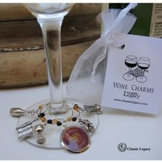 Wine Charms Louis Martini We create custom charms and medallions with your art, logo, or photograph!