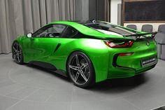 Lava Green BMW i8 Rear View