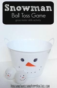 Snowman Ball Toss Game - FSPDT