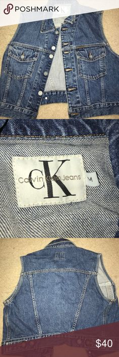 Calvin Klein Calvin Klein 90's jeans vest  -great condition  -no damages or signs of wear Calvin Klein Jackets & Coats Vests