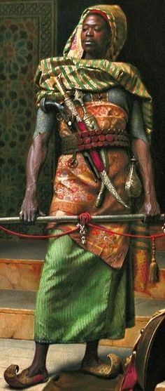 The Nubian Guard (detail view), Ludwig Deutsch was an Austrian painter who settled in Paris. Deutsch came from a well-established Jewish family. His father was a financier at the Austrian court. Born: 1855, Died: 1935.