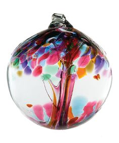 Look at this Pink 6'' Kitras Tree of Friendship Ornament on #zulily today!