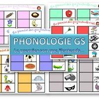 Petit jeu de phonologie pour un atelier de 6 enfants.