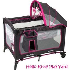 Hello Kitty Pack and Play Yard Newborn Set Baby Girl Infant Pink Nursery Travel  #BabyTrend
