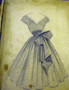 50's dress designs LOVE the full skirt!