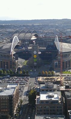 Seattle Seahawks stadium looking south, toward Safeco Field, home of the Seattle Mariners