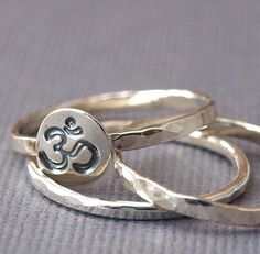 Sterling silver ring stack