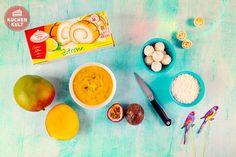 #Exotische #Kuchen, #Früchte #Biskuitrolle #coppenrathundwiese, #Sommer #Kokos #maracuja #tropical #fruit #cream roll #tropicana #summer