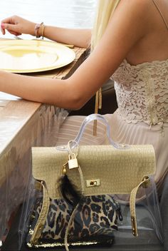 Lock Bicolor – Cocco Beige/Trasparente   #bag #fashion #pvc #glamour #outfit #trend #beauty