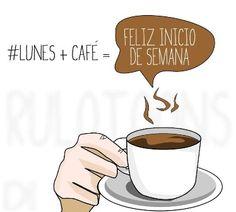 ¿Inicio de semana? ¿Un café? ¡buenos días!