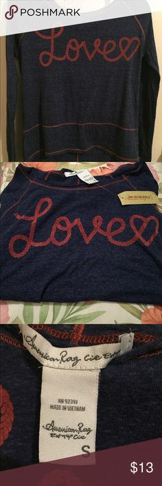 High-Lo American Rag Shirt (Juniors) The back hem is longer than the front to make this a high-lo type of shirt. It's made from polyester, rayon, and linen. It's great for everyday wear with a pair of jeans! 👖❤️ American Rag Tops Tees - Long Sleeve