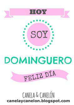 Feliz domingo!!! canelaycanelon.blogspot.com