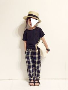おじコーデ❁︎ 夏仕様のチェックパンツ✌︎ パジャマみたいな雰囲気が🙆 いつも♡savefollo