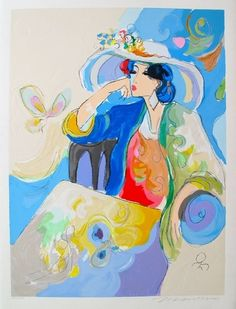 Isaac Maimon Marie Limited Edition Hand Signed Serigraph