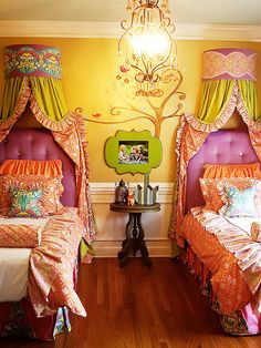 Eloquent modern bohemian home decor Recommended Site Velvet Upholstered Bed, Upholstered Headboards, Whimsical Bedroom, Makeup Room Decor, Princess Room, Disney Princess, Little Girl Rooms, Kid Spaces, My New Room