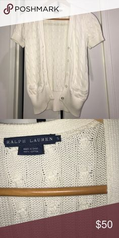 Ralph Lauren Cable Knit Cardigan Gently used Ralph Lauren Sweaters Cardigans