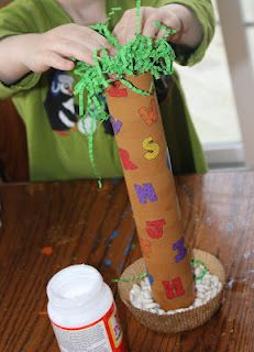 Momma's Fun World: DIY Chicka Chicka Boom Boom alphabet tree to go along with the book