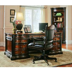 Preston Ridge Parquet Top Executive Desk And Chair Set, SET