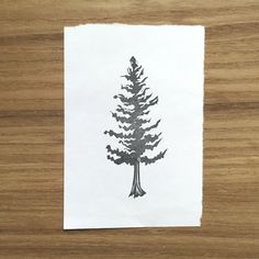 This pine stamp has been hand carved from high quality rubber. Backed with cork for maximum stamping capabilities. Stamp rubber will be either pink or