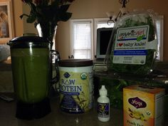 "Day 1 of my Green Smoothie Cleanse, I'm supper energized and not feeling hungry!  ""9"" more days to go!  I Can Do This!"