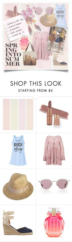 """""""Summer in the City (Side B)"""" by evenafro ❤ liked on Polyvore featuring Justine Hats, Barton Perreira, Soludos, Post-It, Victoria's Secret and Thumbprintz"""