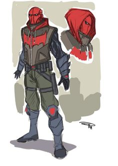 Batman Arkham Knight Red Hood Design. (Can't freaking wait for the game!)