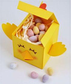 membuat sendiri kotak lucu berbentuk ayam, kerajinan gunting-tempel untuk anak SD