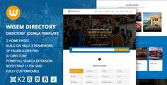 Wisem – Responsive Directory template for Joomla  -  http://themekeeper.com/item/cms-themes/joomla/wisem-directory-template-joomla