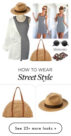 """Beach Style Tight Dress"" by lee77 on Polyvore featuring San Diego Hat Co., Uniqlo and modern"