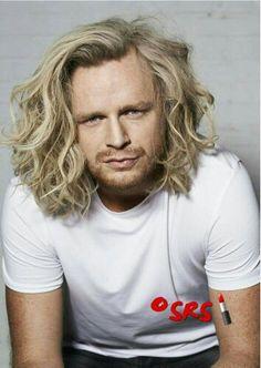 Blond half long men beach hair.. Coiffure award holland 2015 made by myself