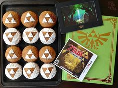"""Food Adventures (in fiction!): Triforce Pumpkin Muffins for """"A Link Between Worlds"""""""