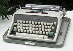 Vintage Working Olympia SM 7 Portable Manual Typewriter with Case and Key by CanemahStudios on Etsy