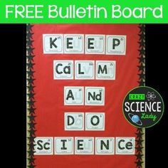 A free bulletin board for back to school! As scientifically accurate as I could make it. I'll be adding my student's names as smaller elements Chemistry Bulletin Boards, Science Bulletin Boards, Science Boards, Back To School Bulletin Boards, Classroom Bulletin Boards, School Classroom, Classroom Ideas, Preschool Bulletin, Classroom Inspiration