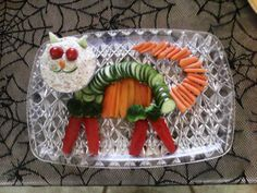 Cat Veggie Tray and Dip